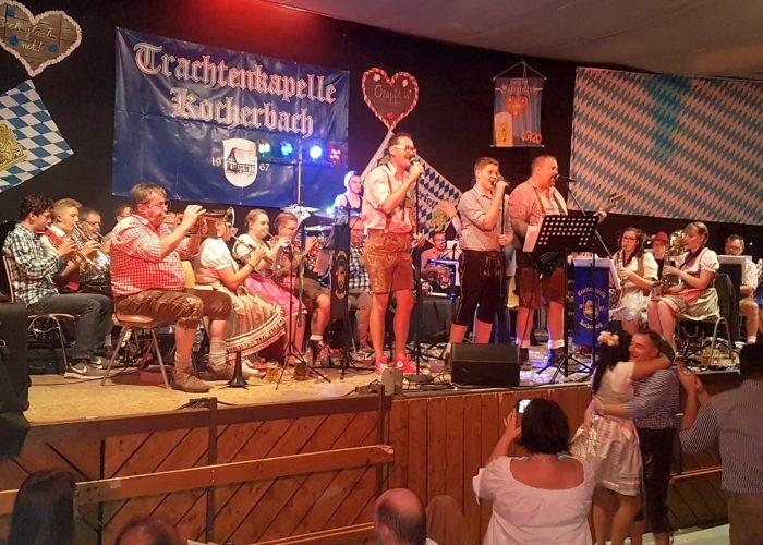 Matthias, Nico und Danny beim Singen
